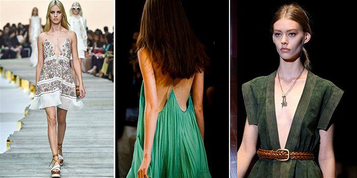 La moda per combattere le temperature africane: il ritorno degli abiti scollati