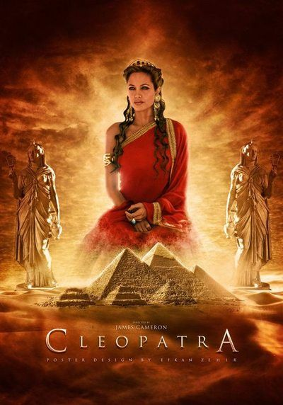 A fanmade poster of the future Cleopatra movie, with Angelina Jolie as the notorious queen…