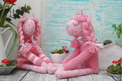 Игрушки животные, ручной работы. Ярмарка Мастеров - ручная работа. Купить розовые лошадки. Handmade. Бледно-розовый, лошадь игрушка