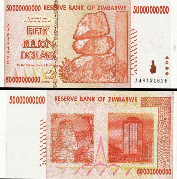 Zimbabwe 50 Billion Dollars In 2020