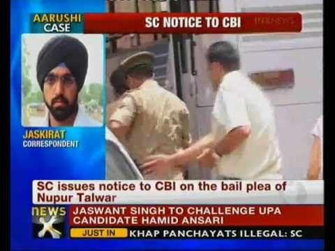 Aarushi murder case: SC issues notice to CBI on Nupur Talwar's bail plea  http://www.newsx.com/videos/aarushi-murder-case-sc-issues-notice-cbi-nupur-talwar%E2%80%99s-bail-plea