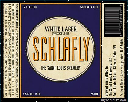 mybeerbuzz.com - Bringing Good Beers & Good People Together...: Schlafly - White Lager Zwickelbier