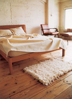 Truck Furniture : OAK FURROWED LEATHER BACK BED | Sumally