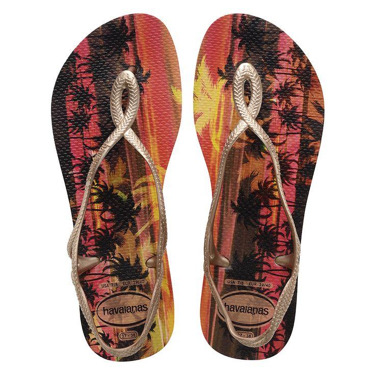 Havaianas Slim Luna Print Sand Grey/Rose Gold Flip Flop  Price From: 22,83$CA