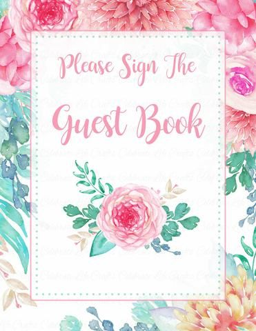 53 best Floral Baby Shower images on Pinterest Baby girl shower - free printable baby shower guest list