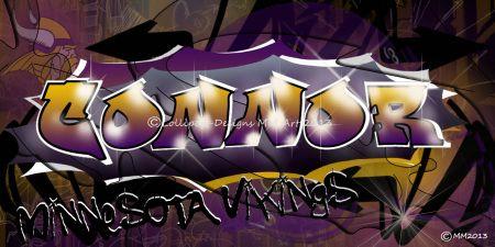 Graffiti styled design created digitally for Connor a Minnesota Vikings fan!  WMConnor