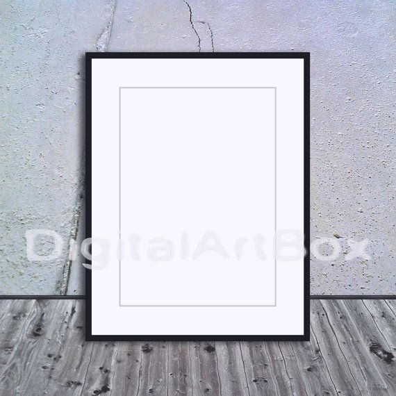 A3 Vertical Black Frame Mockup A1A5 Frame by DigitalArtBox on Etsy