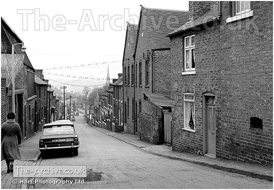 Photograph of Church Street, Lye, Stourbridge, West Midlands, Worcestershire. Photographed in the 1960's.   #Nostalgia #VintagePhotographs #OldPhotos #Lye #Stourbridge #BlackCountry #England #Streets #Houses #Terraced