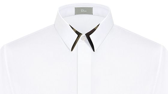 Camouflage at the collar, white cotton - Dior