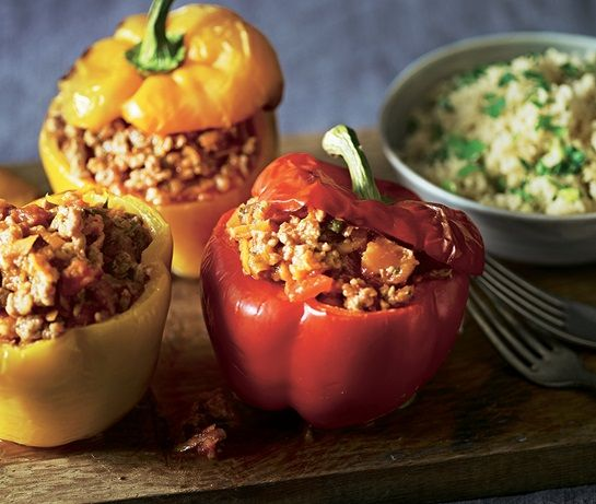 Stuffed peppers  change lean mince for extra lean  leave out sultanas  change oil for fry light   and it will be syn free