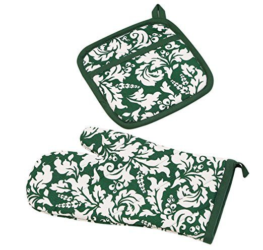 Amazon Com Yourtablecloth Set Of Oven Mitt And Pot Holder Or Oven