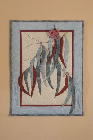 """""""A Gum Leaf Wall Hanging"""" pattern"""