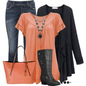 Plus size outfit - love the colors