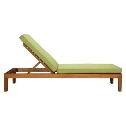 Smith & Hawken® Brooks Island Wood Patio Chaise Lounge