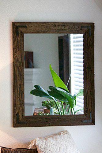 Rustic Wall Mirror Large 24 X 30 Vanity Bathroom Reclaimed Wood Read Mirrors Pinte