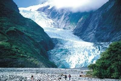 Franz Josef Glacier, most famous glacier New Zealand. The hike is not for the faint of heart; pick the half day if you have the option over the full.