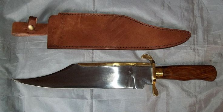 """Large """"Primitive"""" Bowie Style Fixed Blade Knife - Mountain Man - Modern - """"NEW"""" 