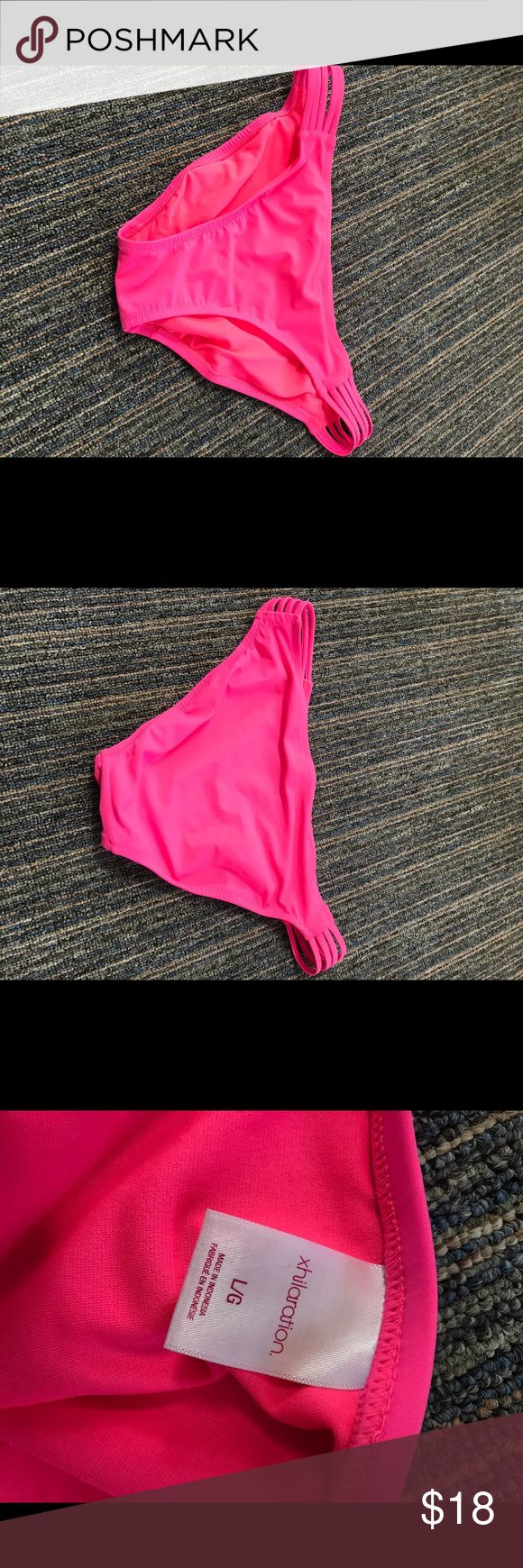 Hot pink swim bottoms from Merona Cute hot pink swim bottoms from Merona. I have a matching top on my page as well. Only used a few times, I just purchased the wrong size Merona Swim Bikinis