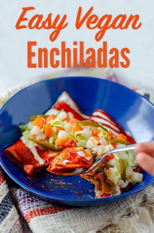 Potato And Mushroom Vegan Enchiladas Enchiladas Mineras