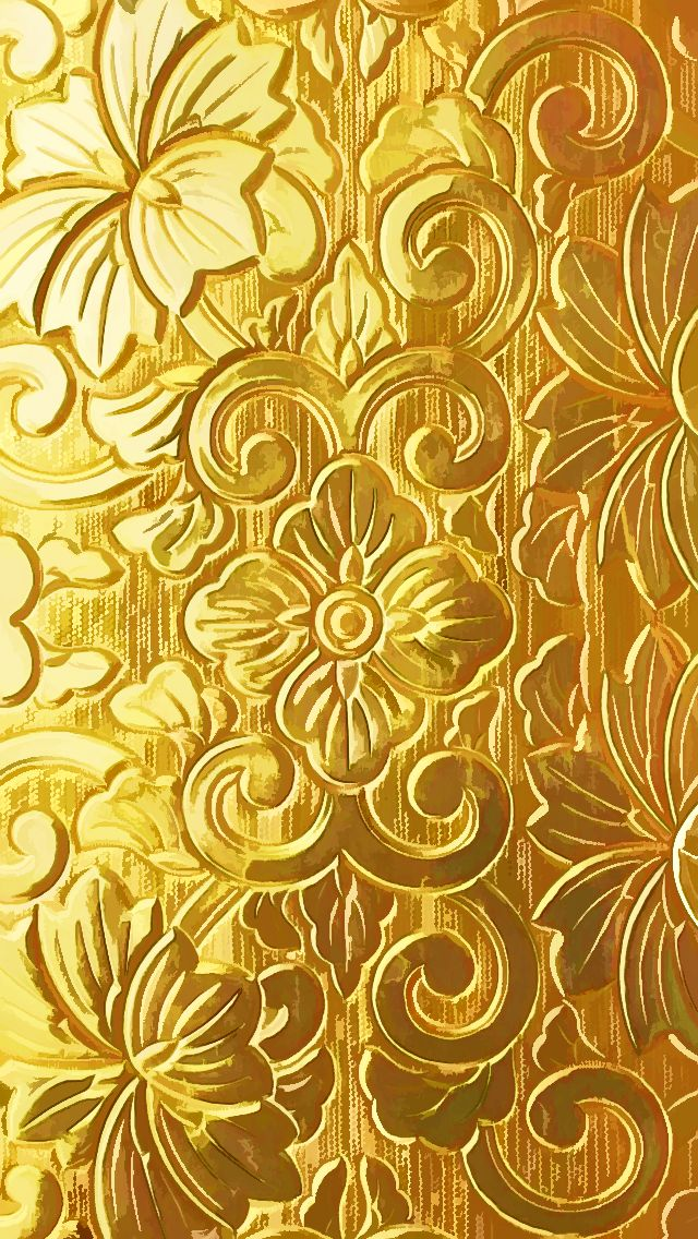 GOLDEN ENGRAVED FLORAL MOTIF