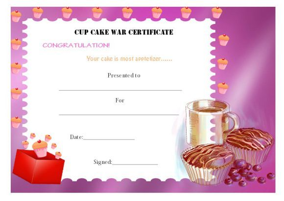 14 Cake Competition Certificates For Bake Off Cake Decorating Competitions Demplates Cake Competition Certificate Templates Certificate