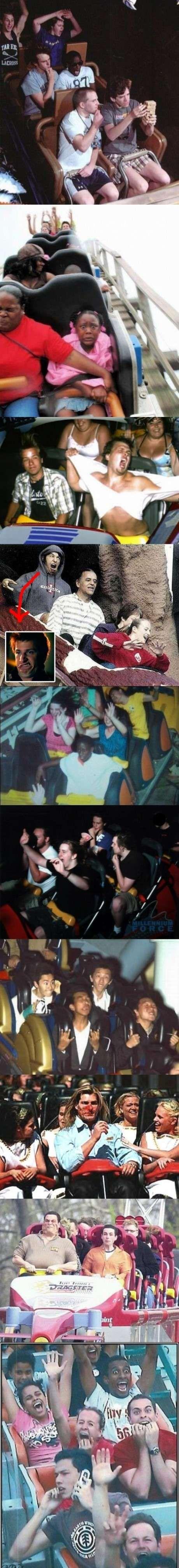 best roller coaster faces