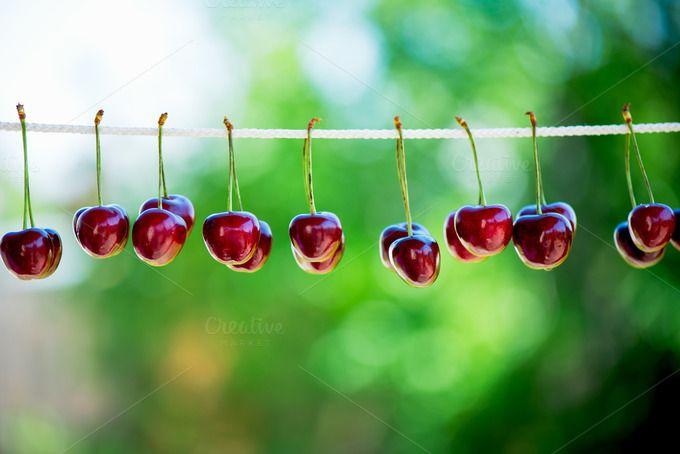 Ripe Cherries by MAnuta on @creativemarket