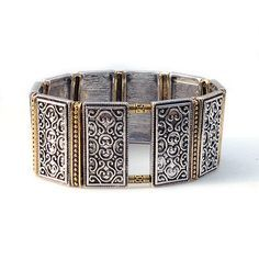 FitBit Charge Cover Bracelet and FitBit Charge HR Cover Bracelet: Antique Silver Lallybroch Touch of Gold with Window