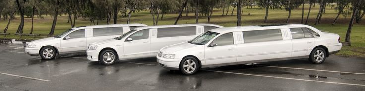 Limoso - White Stretch Limousine Fleet - 2x Ford Fairlanes and 1x Holden Caprice