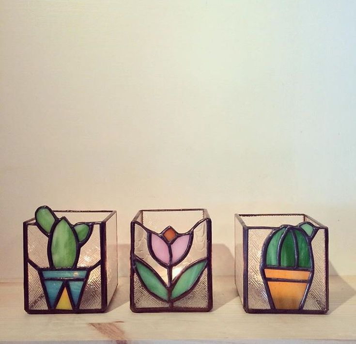 Stained glass votives #StainedGlassVitrales