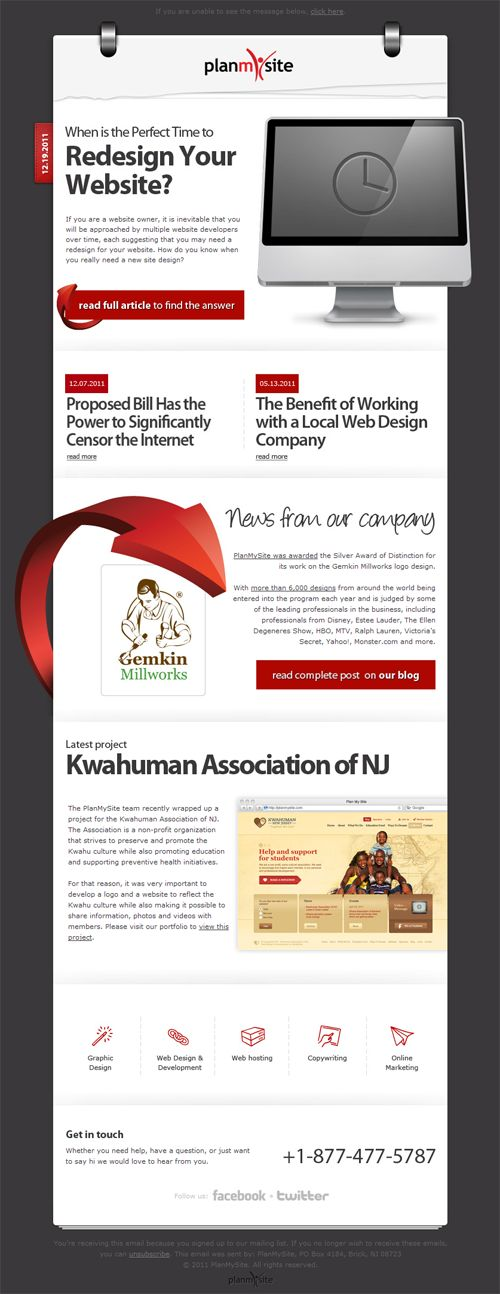Beautiful Email Newsletters » Blog Archive » Plan My Site