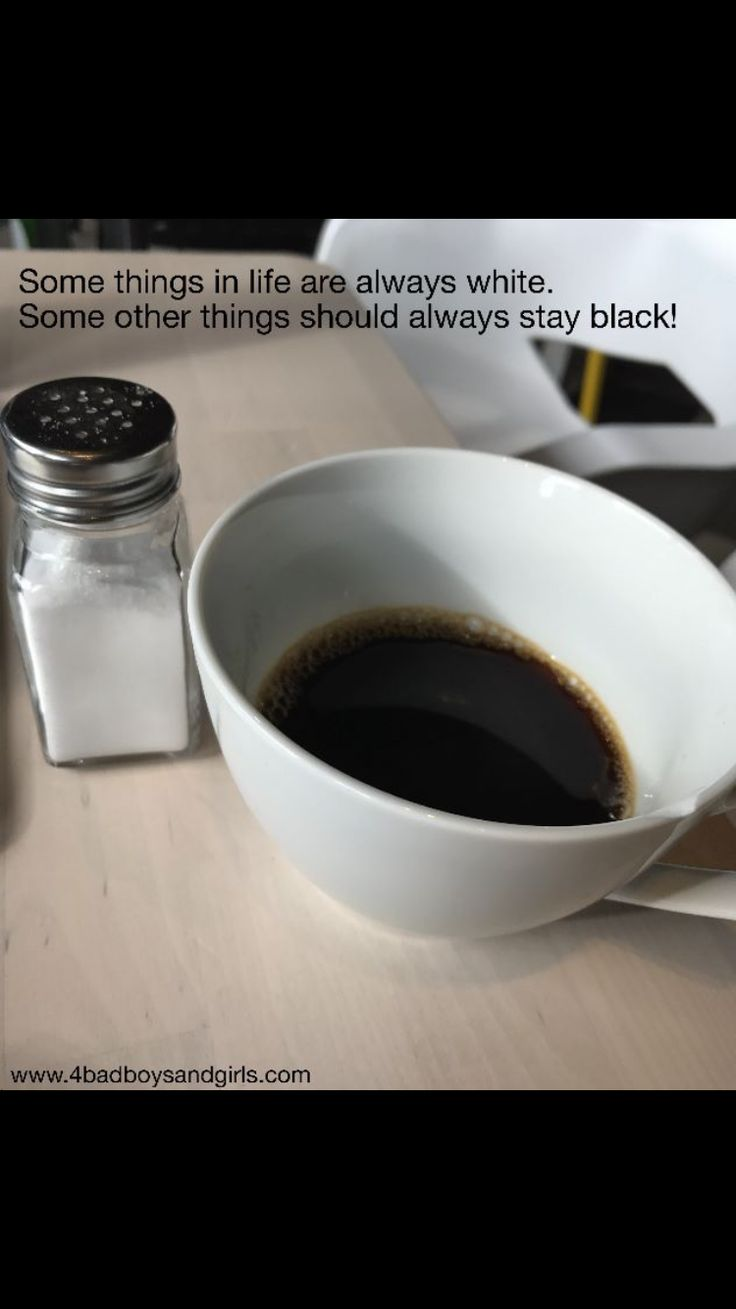 The truth about black and white.