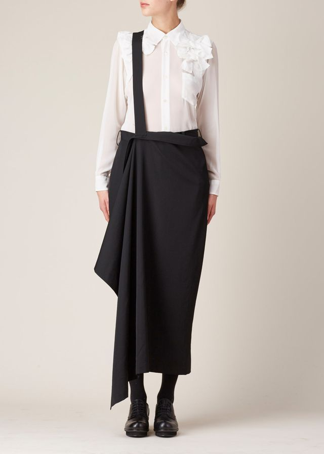 Visions of the Future: Yohji Yamamoto Slim Wrap Skirt (Black)