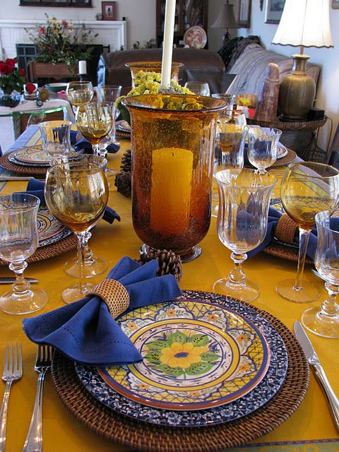 table cloth and place setting