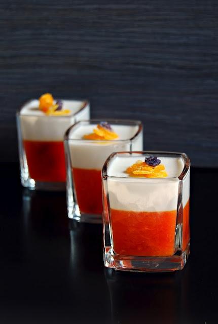gelee d'orange sanguine a la noix de coco