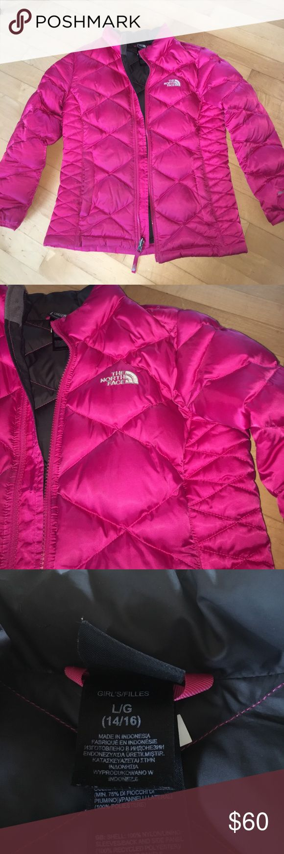 The north face winter jacket The north face Pink winter jacket. Only lightly worn! The North Face Jackets & Coats