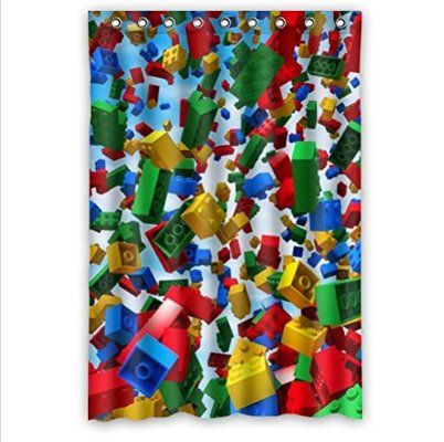 """Personalized colorful lego blocks pattern Bathroom Waterproof Polyester Fabric Shower Curtain 48"""" x 72"""""""