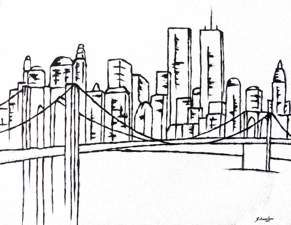 Brooklyn Bridge Painting  - Brooklyn Bridge Fine Art Print
