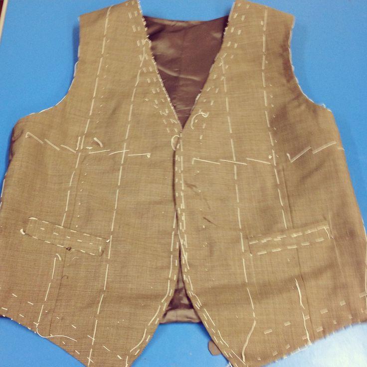Finished bespoke tailored waistcoat