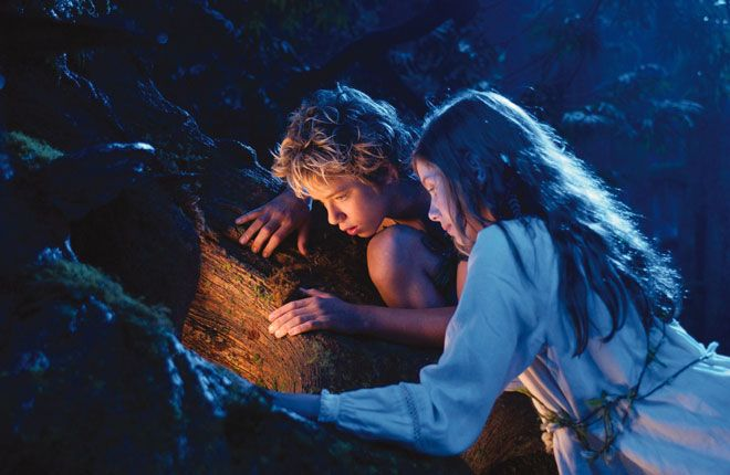 Peter and Wendy in Pixie Hollow.