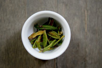 Le thé du Labrador, plante des régions froides d'Amérique, a longtemps servi à la préparation de boisson désaltérante, parmi les Amérindiens et les premiers colons. Analgésique, son apport le plus connu et répertorié reste son efficacité contre la migraine.