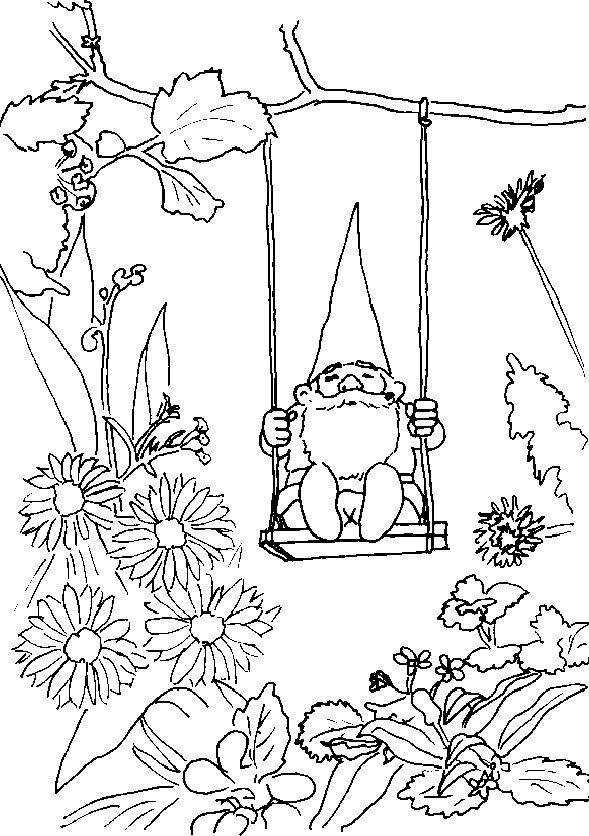 Adult Coloring Pages Coloring Pages Scandinavian Gnomes Adult