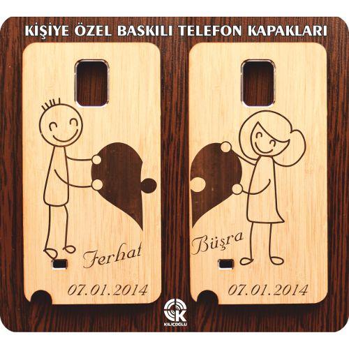 Kalp Puzzle Temalı-kişiye Özel 2'li Ahşap Telefon Kapağı-kılıfı 49,90 TL ve ücretsiz kargo ile n11.com'da! Kılıf fiyatı Telefon