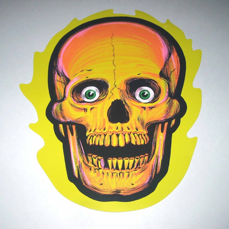 vintage 1970s cardboard scary skull halloween decoration by beistle 995 via etsy - Etsy Halloween Decorations