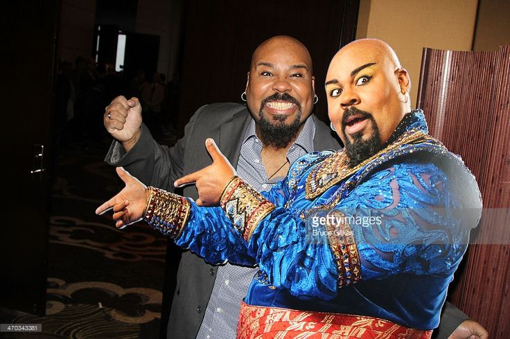 James Monroe Iglehart who plays 'The Genie' attends the 'Aladdin' Broadway cast and creative team press preview at Mandarin Oriental Hotel on February 18, 2014 in New York City.