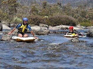 Summer fun in #Australia    River sledding at Lake Crackenback Resort in the NSW Snowy Mountains. #Australia