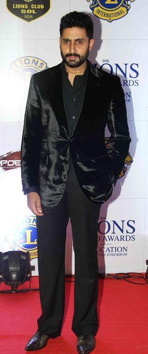 Abhishek Bachchan at Lions Gold Awards 2015....