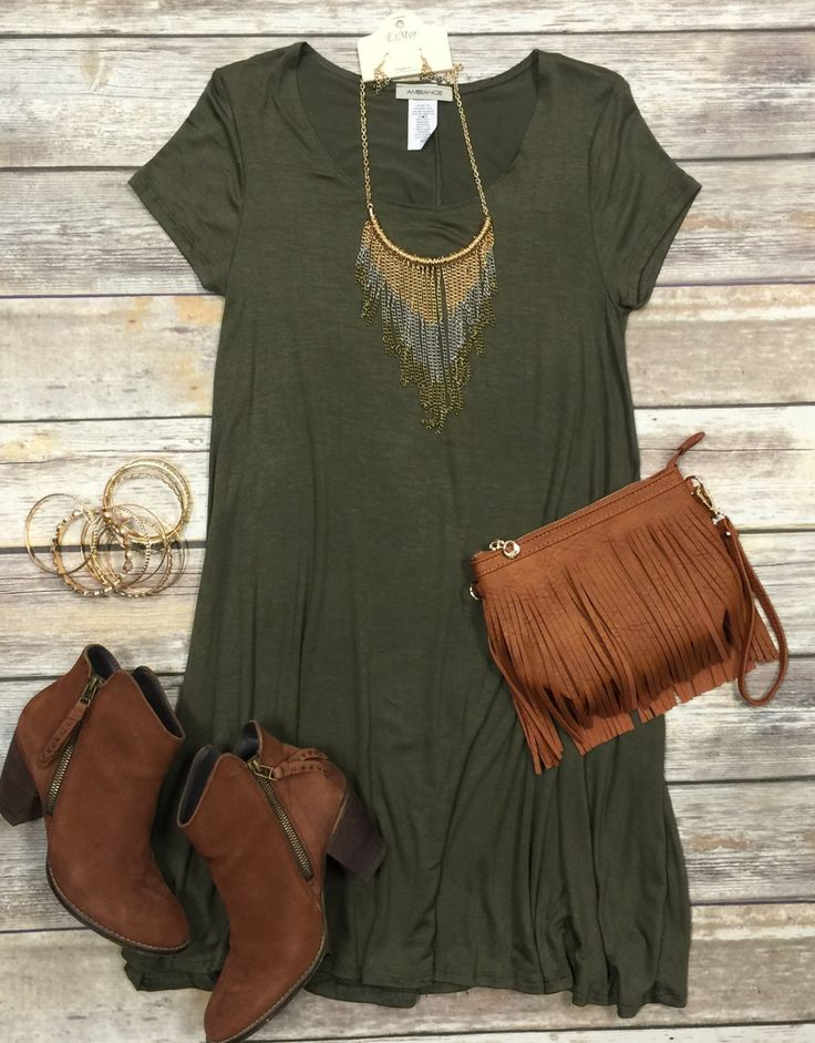 To a Tee Tunic: Olive                                                                                                                                                                                 More