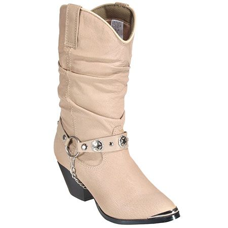 Dingo Boots Women's Bailey Tan Pigskin Western Boots DI526