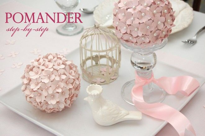 girly pomander flower ball